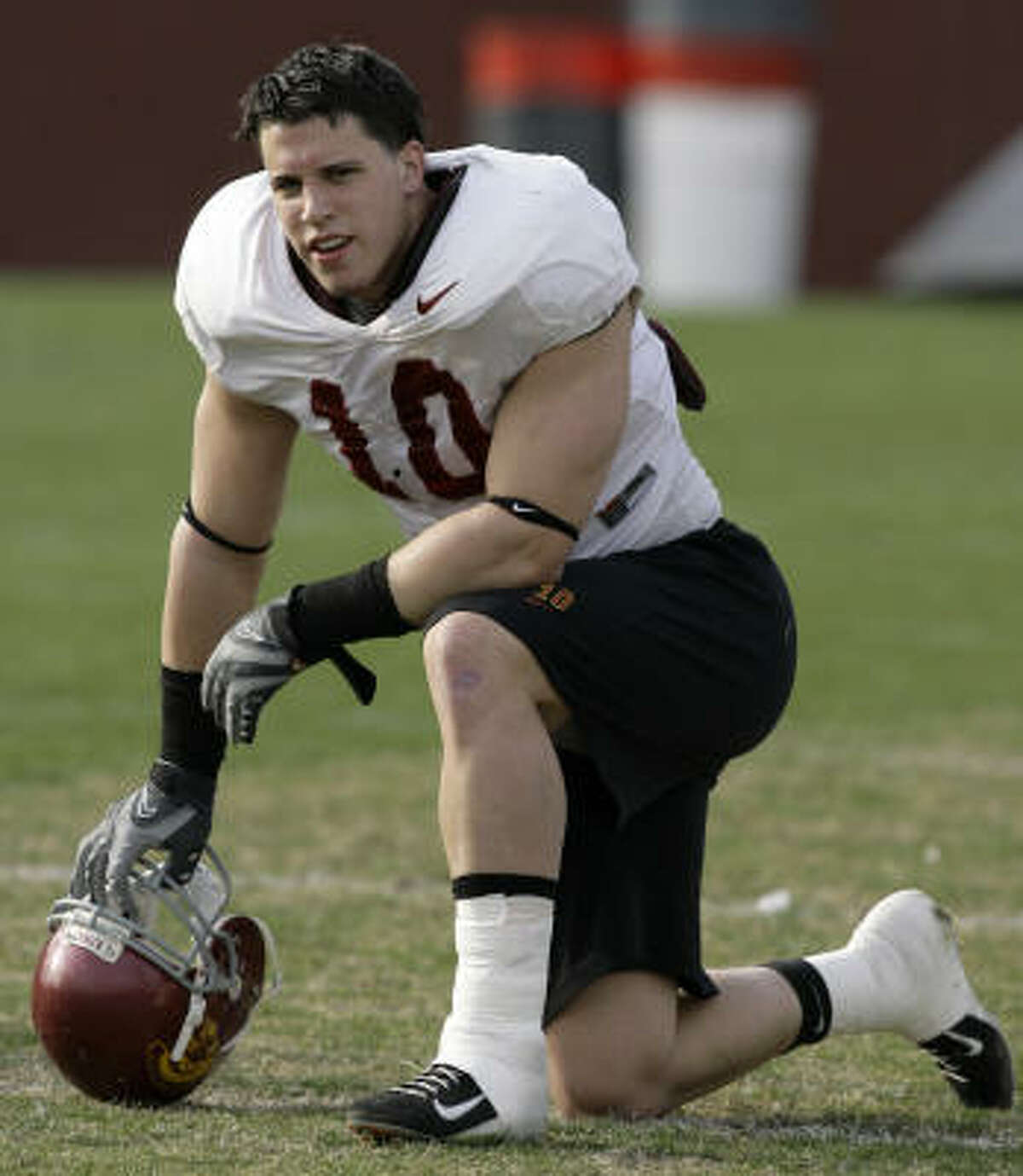 Brian Cushing, 6-3, 246, 4.64, USC He can play any position in any scheme but seems best suited for the strong side in a 4-3.