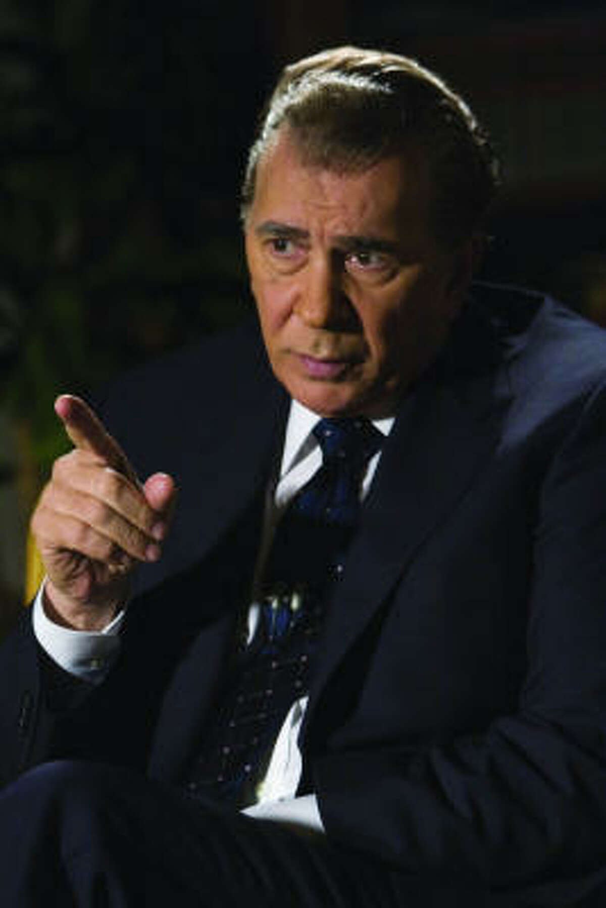 The film was a dramatic retelling of the post-Watergate television interviews between British talk-show host David Frost and former president Richard Nixon.