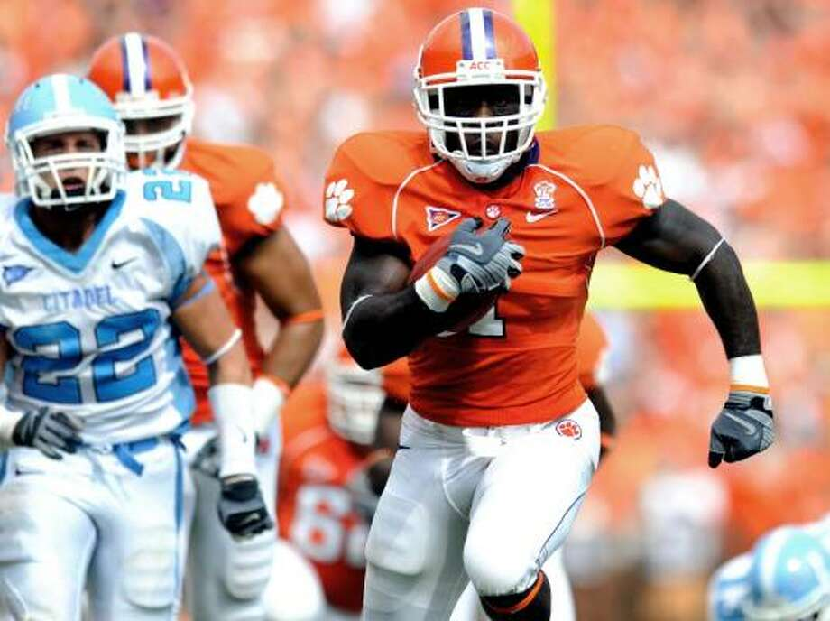 James Davis ran for 3,881 yards and 47 touchdowns in his four years at Clemson. Photo: Richard Shiro, AP