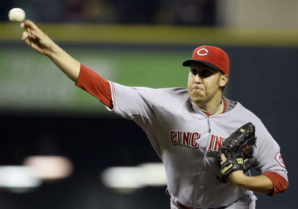 Cincinnati Reds pitcher Aaron Harang started for the visiting team.