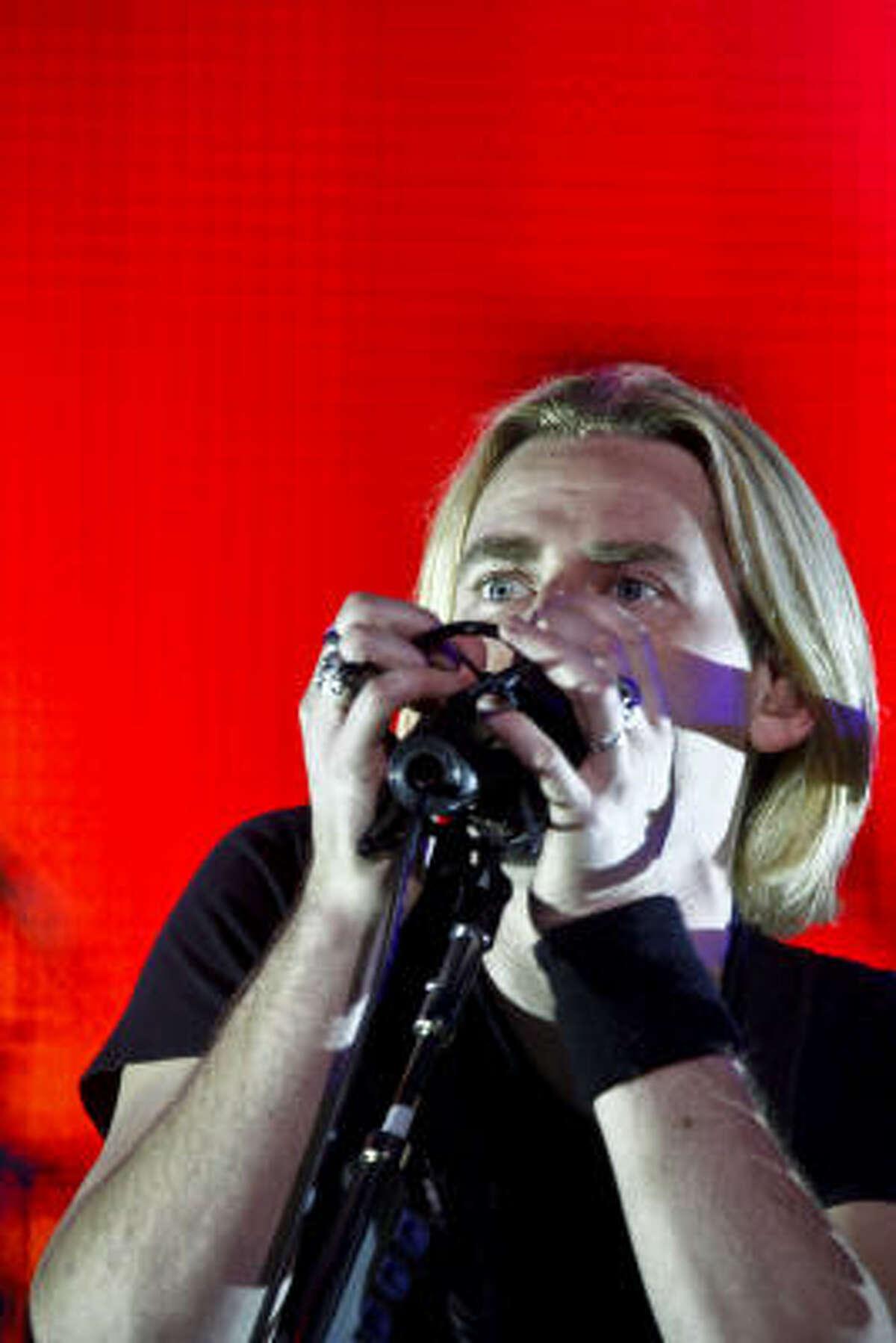 Nickelback at Toyota Center Thursday, April 16, 2009, in Houston.