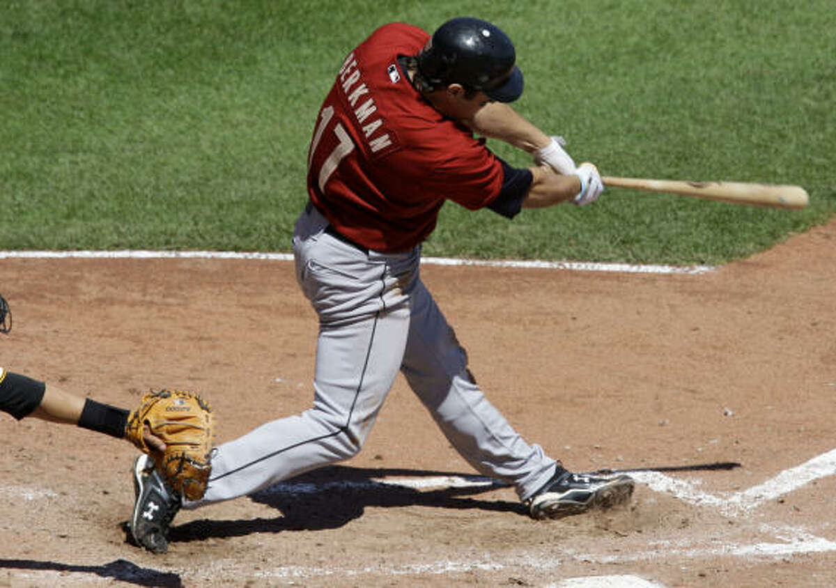 Lance Berkman's three-run blast off Pirates pitcher Sean Burnett proved to be the difference.