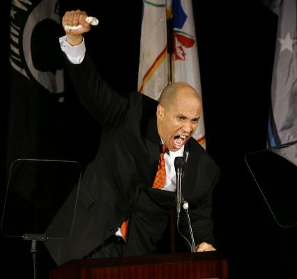 CORY BOOKER Elected mayor of Newark in 2002 at the age of 33, Booker remains one of the most promising African American politicians of the post-Baby Boom generation. He's a contender for statewide office or a White House post some day.
