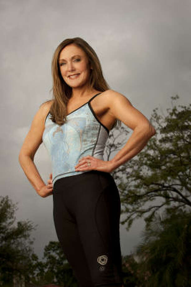 Peggy Fleming, 1968 Olympic Figure skating champion and health advocate, photographed at the Houstonian Spa in Houston, Texas on March 23, 2009.  Although sixty years old at the time of the shoot, Fleming stays in shape with a combination of running and yoga.© 2009 Robert Seale    © 2009 Robert Seale.    Robert Seale Photography  www.robertseale.com  832-654-9572 Photo: Robert Seale, © 2009 Robert Seale