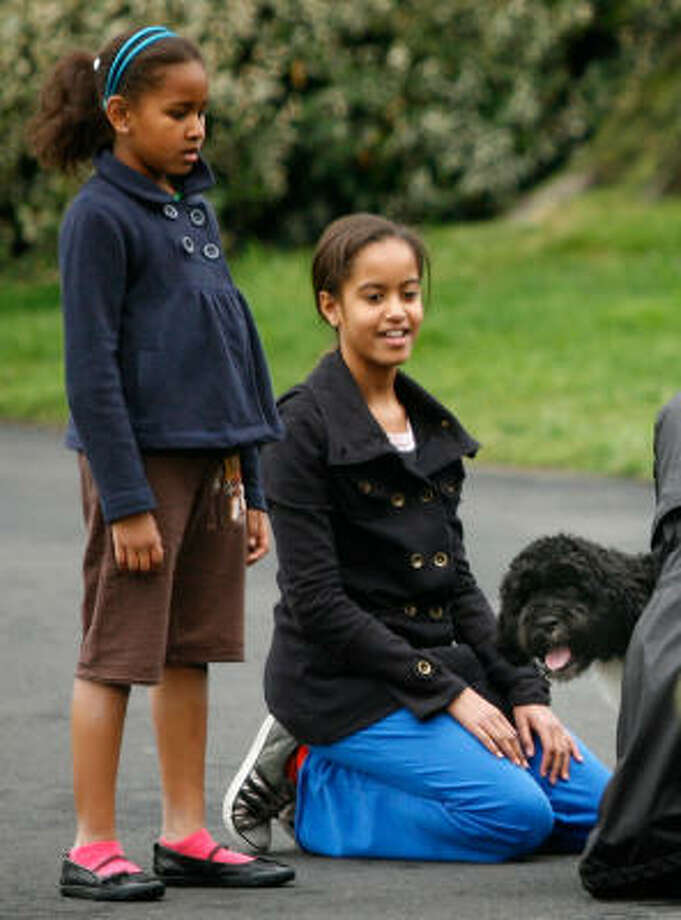"Malia Obama, codename ""Radiance"" and younger sister Sasha Obama, codename ""Rosebud"" Photo: Alex Wong, Getty Images"