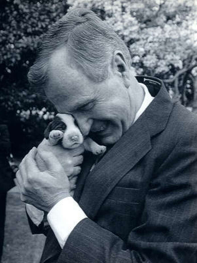 Millie gave birth to six puppies during the elder Bush's administration, but Spot was the only one to return for another term in the White House. Photo: AP