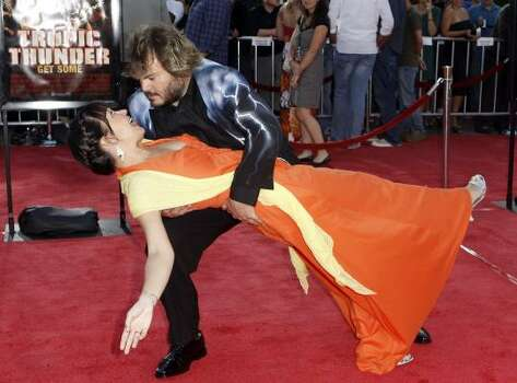 Actor Jack Black, right, and his wife, Tanya Haden welcomed a second child this year. Photo: Matt Sayles, AP