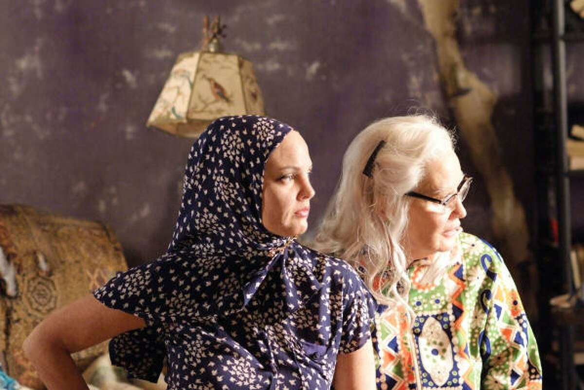 Drew Barrymore, left, and Jessica Lange co-star in the HBO movie, Grey Gardens.