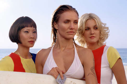 From left, Lucy Liu, Cameron Diaz and Drew Barrymore starred in Charlies Angels: Full Throttle. Photo: DARREN MICHAELS, AP