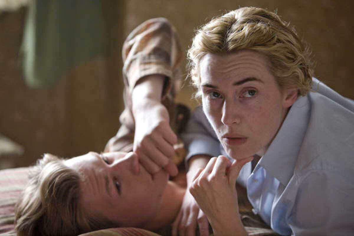 David Kross and Kate Winslet in The Reader. The film is about a law student who re-encounters his former lover as she defends herself in a war-crime trial.