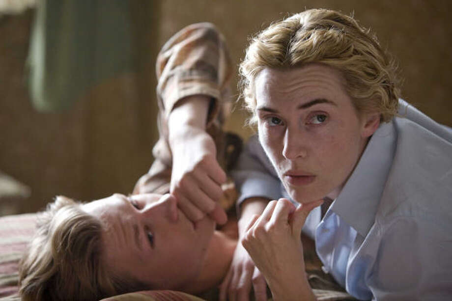 David Kross and Kate Winslet in The Reader. The film is about a law student who re-encounters his former lover as she defends herself in a war-crime trial. Photo: Melinda Sue Gordon, AP