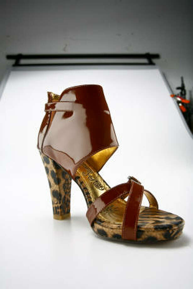 Naughty Monkey brown patent sandal, DSW Photo: Michael Paulsen, Houston Chronicle