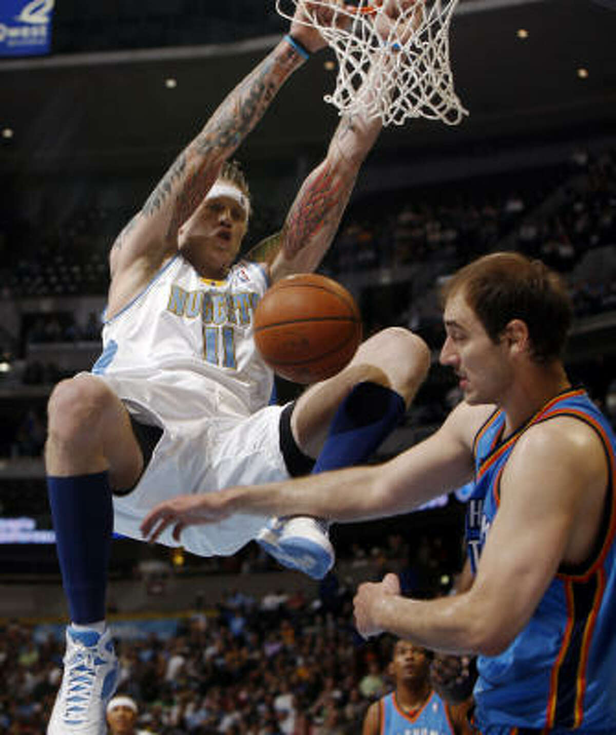 2. Denver Nuggets (53-27) The Nuggets hold a one-game lead over the Houston Rockets and their Northwest Division rivals, the Portland Trail Blazers, with two games left.