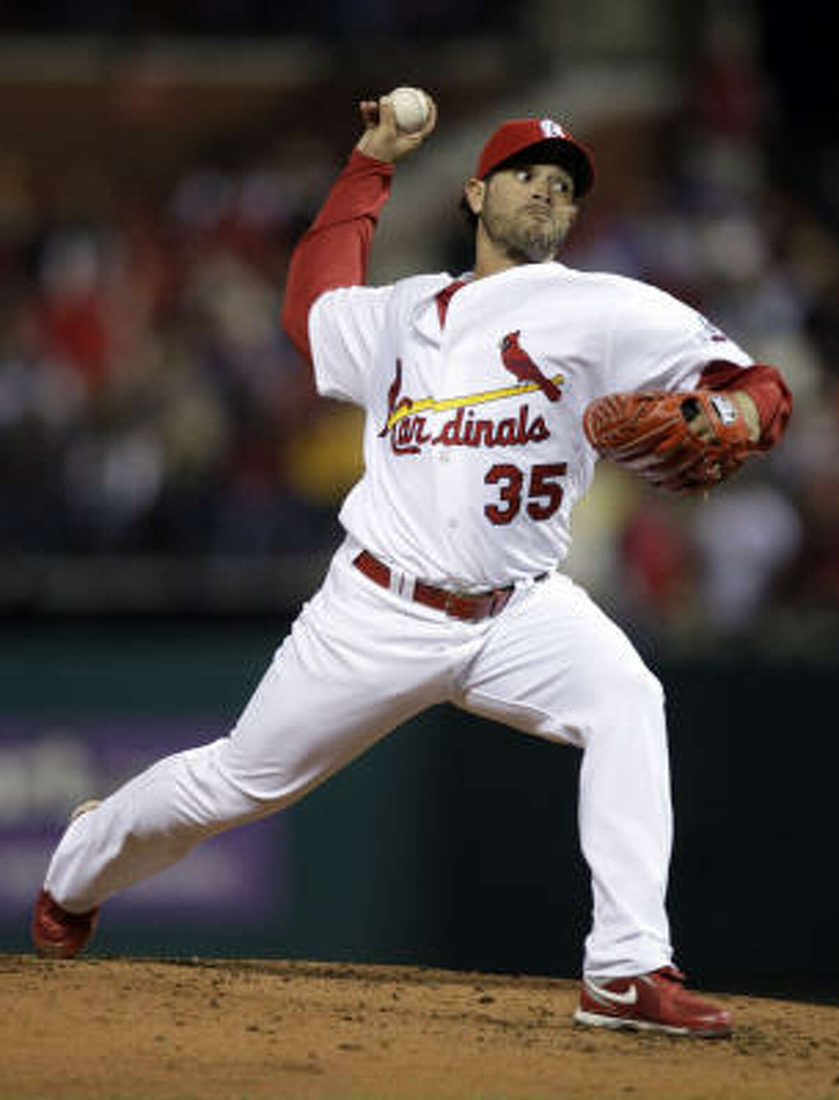 St. Louis Cardinals starting pitcher Joel Pineiro started against the Astros.