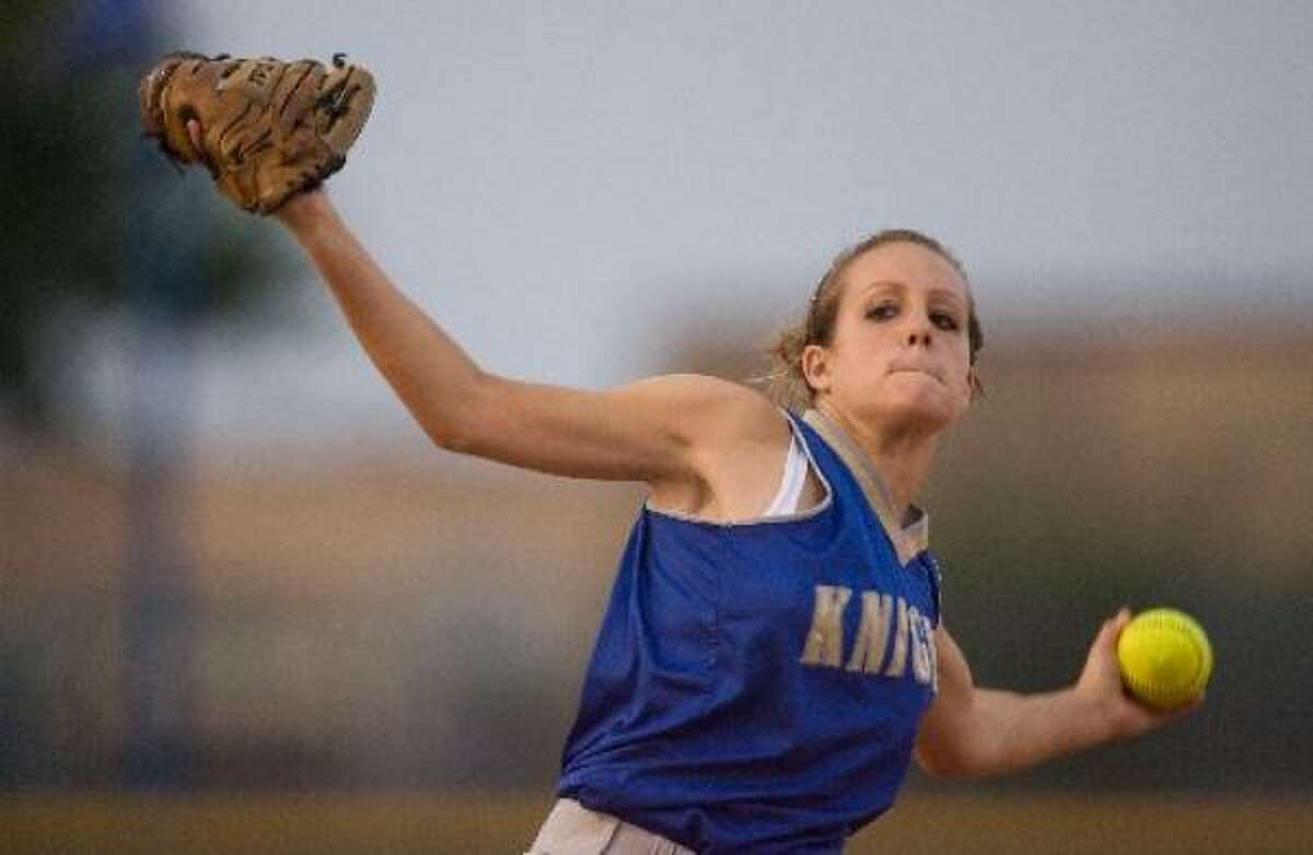 Elkins' Nicole Gremillion improved to 21-3 with the win.