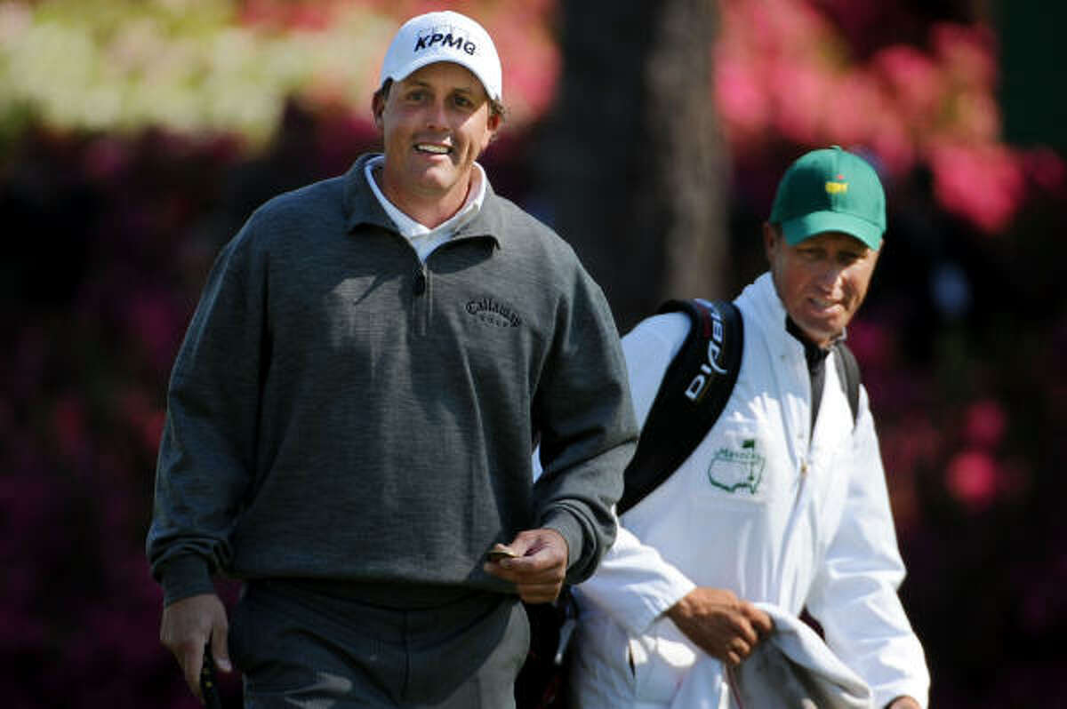 Phil Mickelson (ranked No. 2) Campbell says: Can he turn it around after missed cut at Shell Houston Open? The week before he picked up his Masters green jackets, he had a T10 (in '04) and a win (in '06).