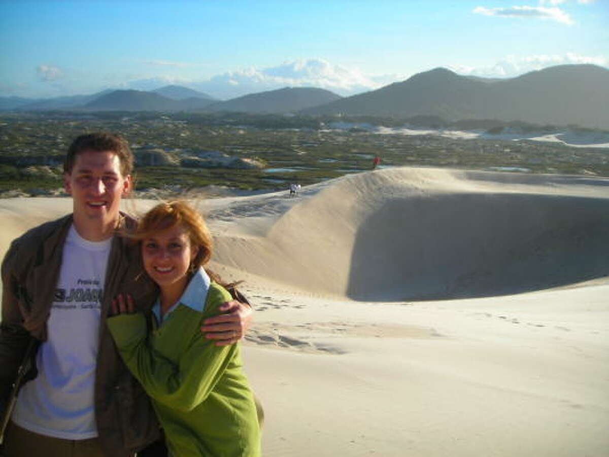Runner-up: During their honeymoon, Aaron Christopher Faidley and his wife visited Florianopolis, Brazil, where they ventured down the sand dunes.