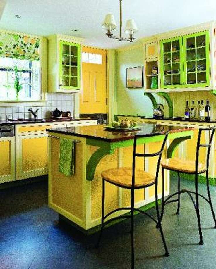A bright paint job updates this older kitchen. From All New Kitchen Idea Book by Joanne Kellar Bouknight. Photo: The Taunton Press