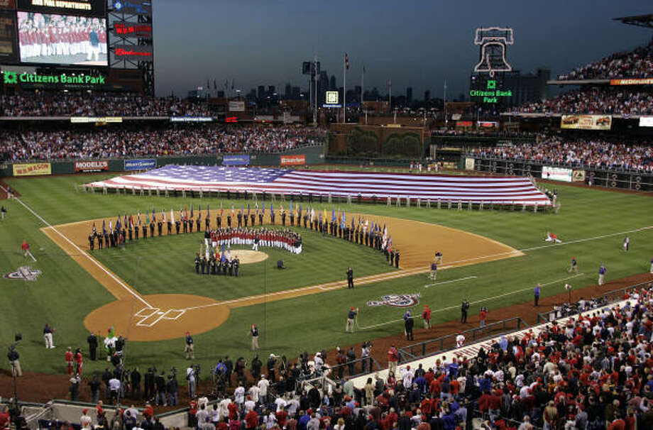 Citizens Bank Park in Philadelphia was the setting for the first game of 2009, as the Philadelphia Phillies took on the Atlanta Braves. Photo: Tom Mihalek, AP