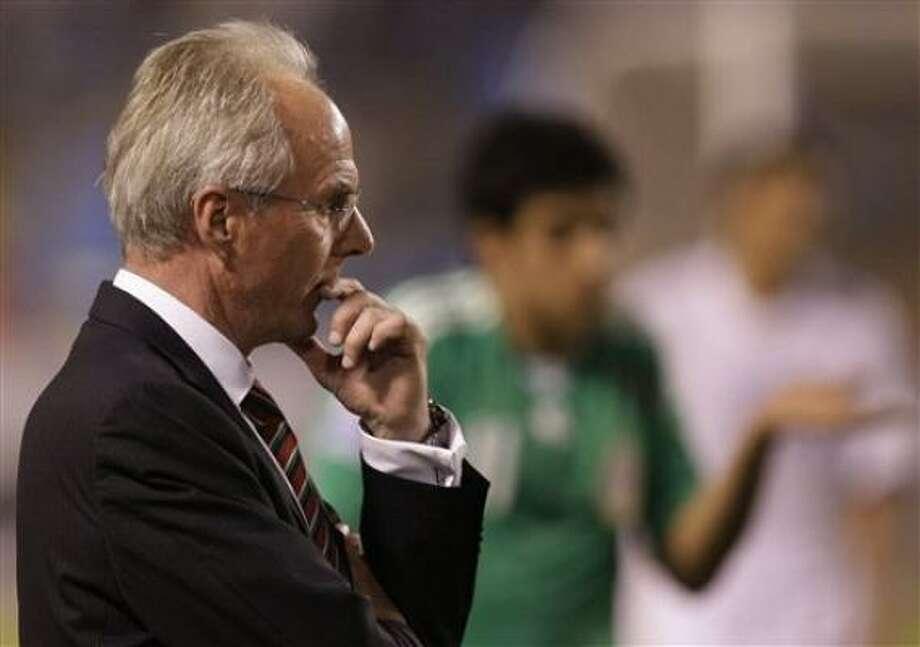 El sueco Sven-Goran Eriksson fue despedido el jueves como técnico de la selección mexicana luego de la derrota de 3-1 ante Honduras en San Pedro Sula. Photo: Gregory Bull, AP
