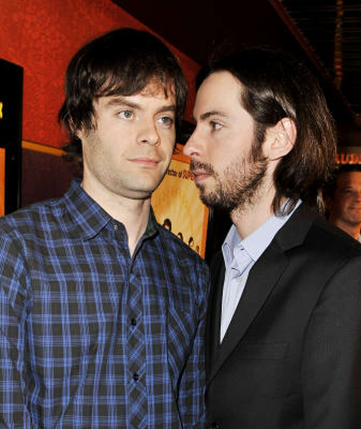 Actors Bill Hader, left, and Martin Starr both starred in director Greg Mottola's Superbad.
