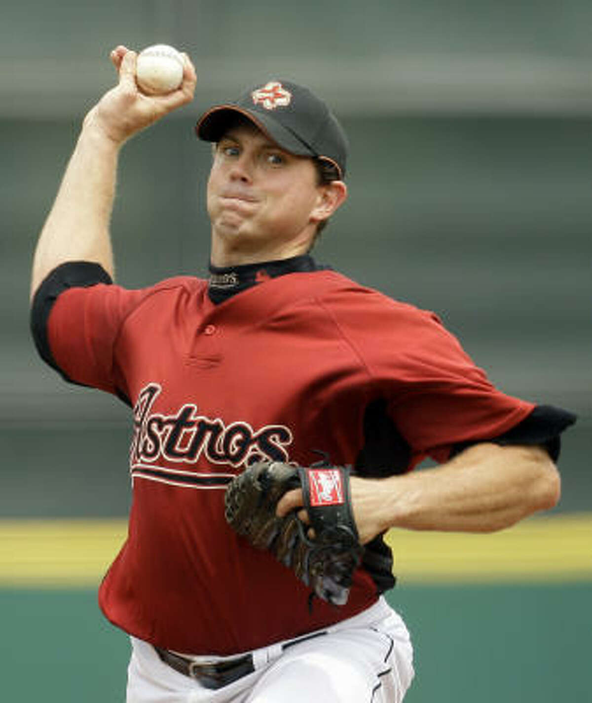 Astros pitcher Brian Moehler gave up two runs over six innings. Moehler had no strikeouts and no walks.