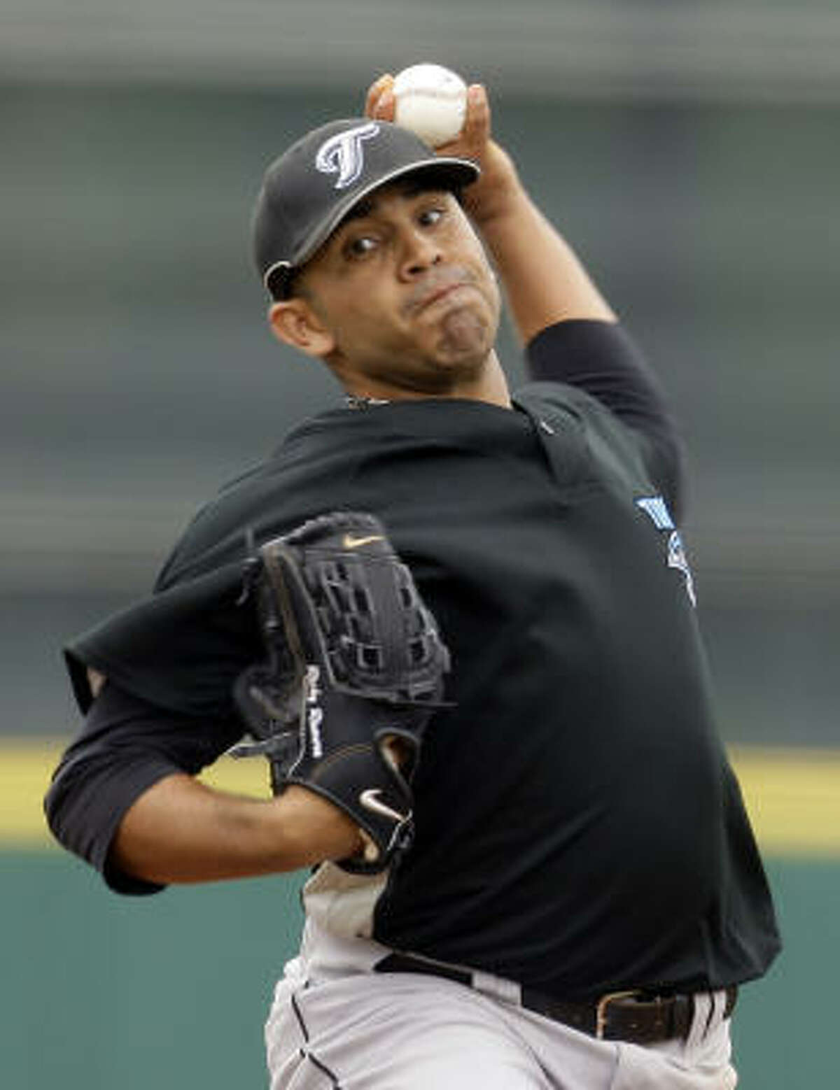 Ricky Romero started for the Blue Jays. Romero had six strikeouts and held the Astros to two runs in seven innings.