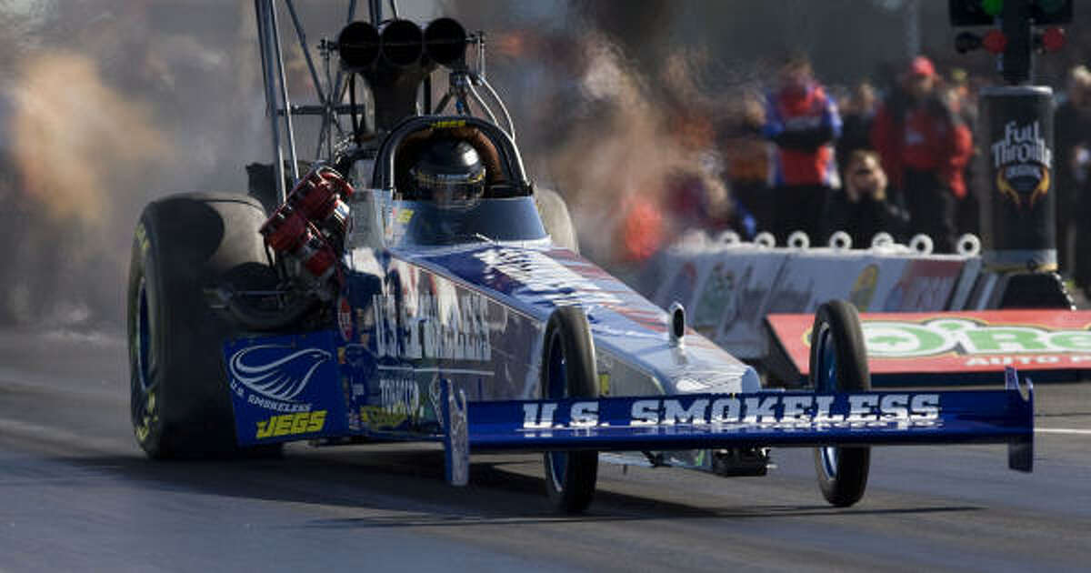 Spencer Massey drives in the top fuel dragster division.