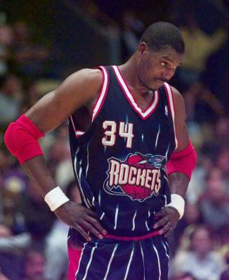 Hakeem Olajuwon, center. With Rockets: 1984–2001. The case for: Olajuwon finished his career with 26,946 points, 13,747 rebounds and 3,830 blocks. Photo: MICHAEL CAULFIELD, AP