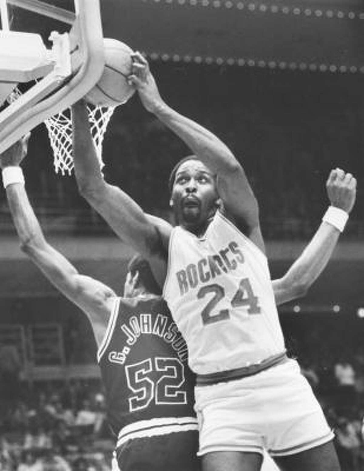 Moses Malone , center. With Rockets: 1976-1982. The case for: Malone finished his career with 27,409 points, 16,212 rebounds and 1,796 assists.