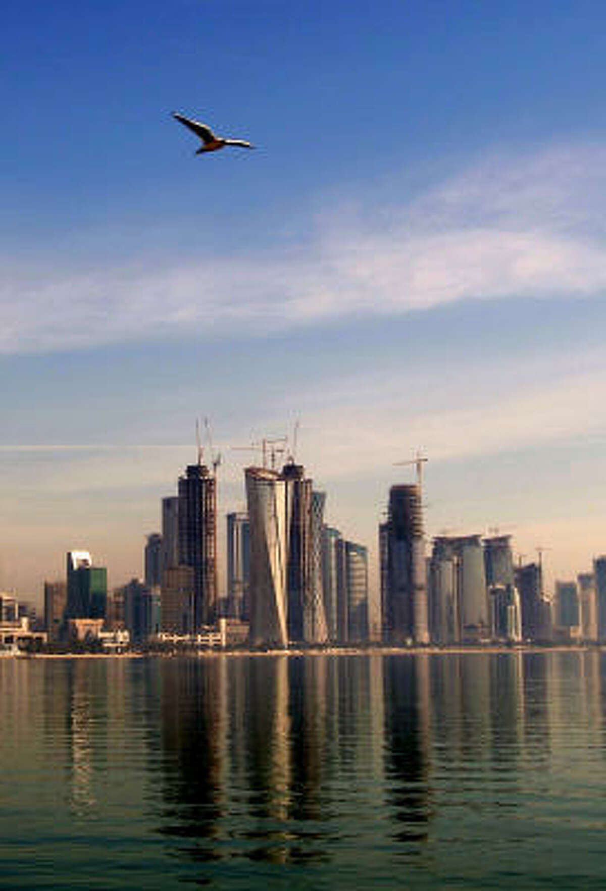 More than $100 billion in construction projects are under way in Doha, Qatar's capital.