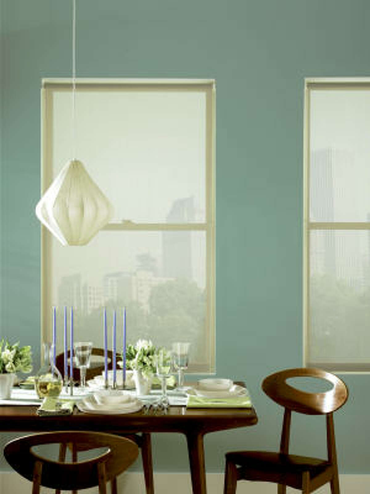 For best results, choose solar shades in highly reflective colors such as white.