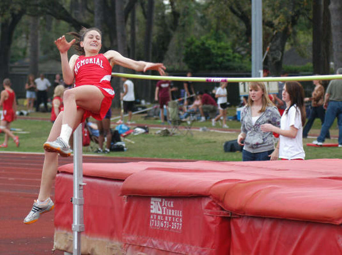 Memorial's Alexandra Chirich was second in girls high jump.