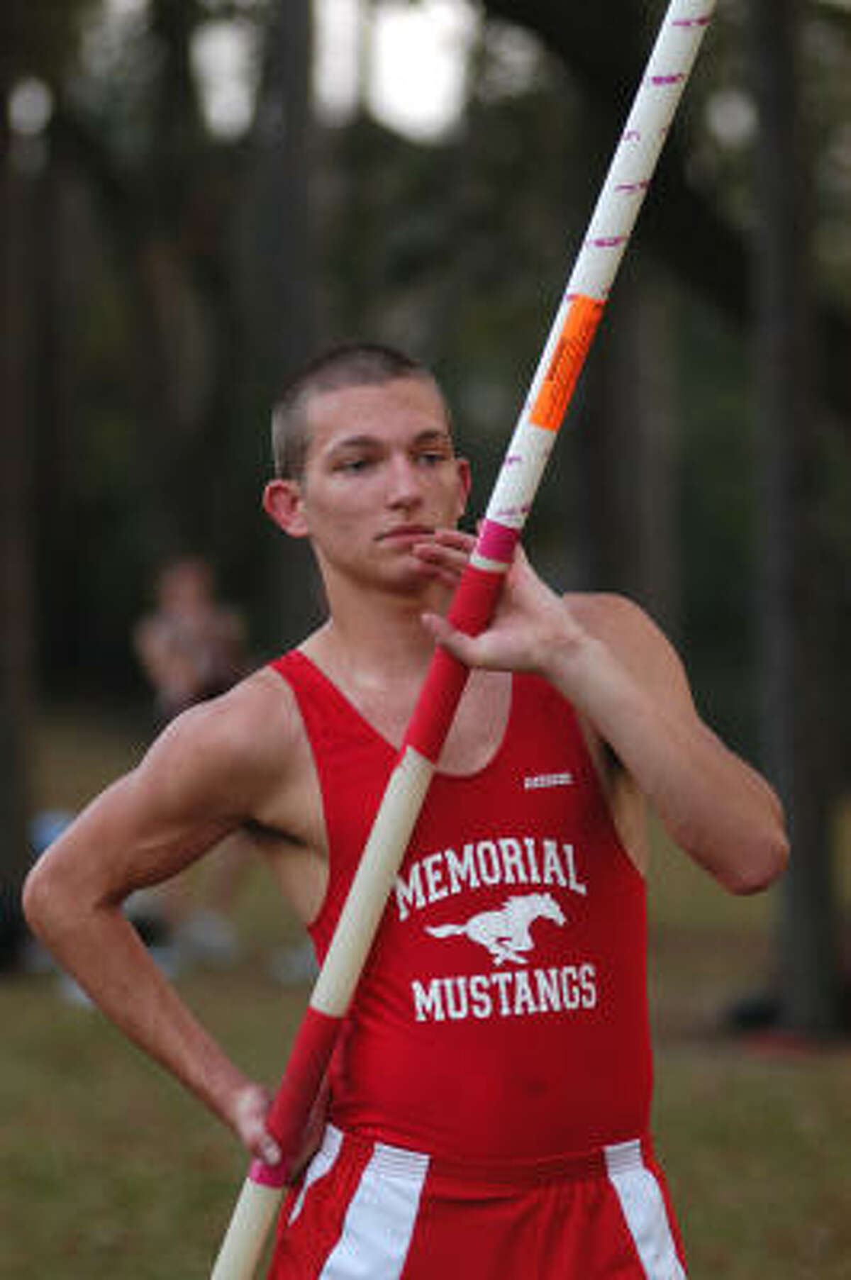 Memorial's Shane Mahnke won the boys pole vault.