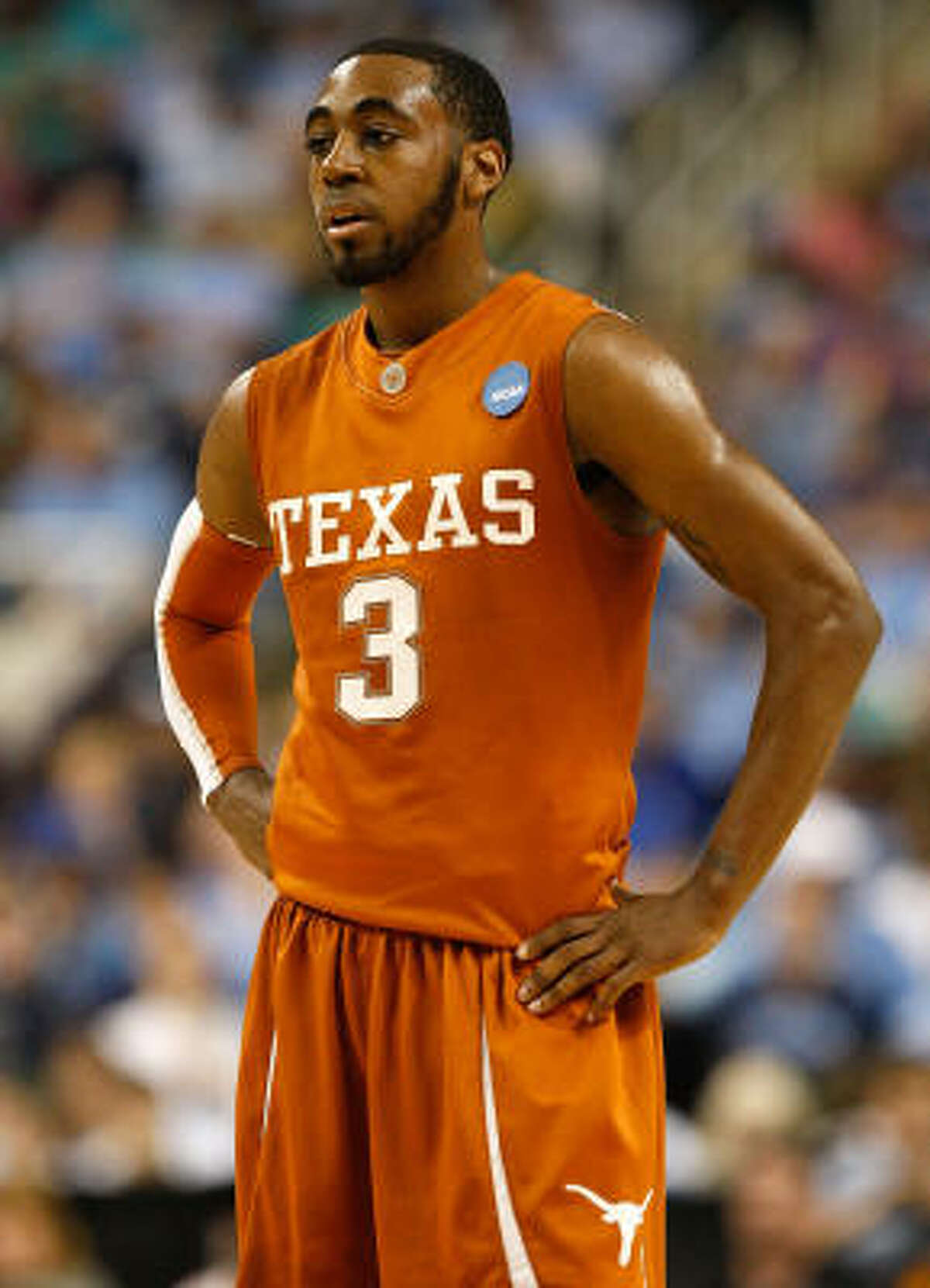 East Regional: Duke 74, Texas 69 A.J. Abrams of Texas looks on in the final seconds.