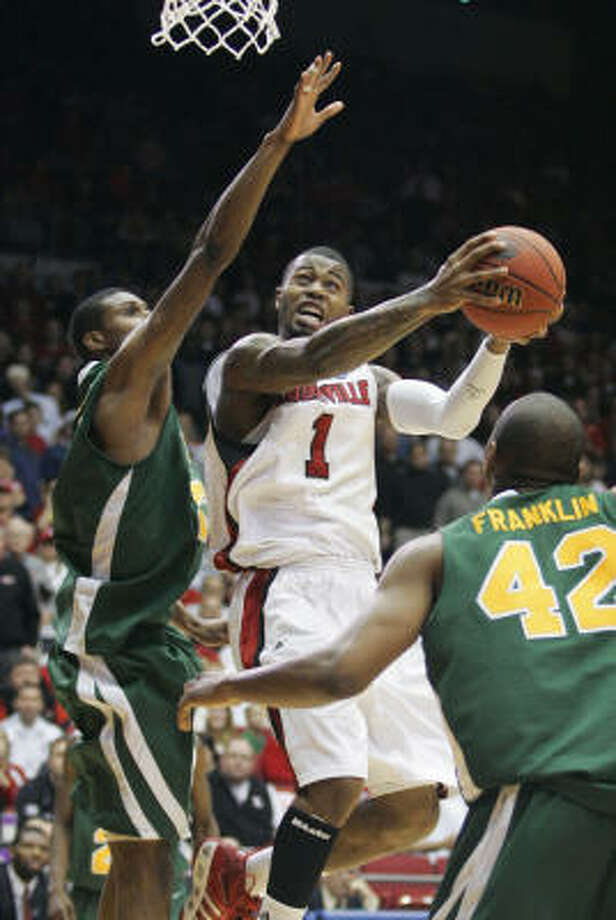 Terrence Williams (Louisville)Williams led the team with 24 points and 15 rebounds in second round win in the Midwest Regional. Williams was 9-for-14 from the field and 4-for-6 from 3-point range. Williams added four assists and two steals. Photo: Skip Peterson, AP