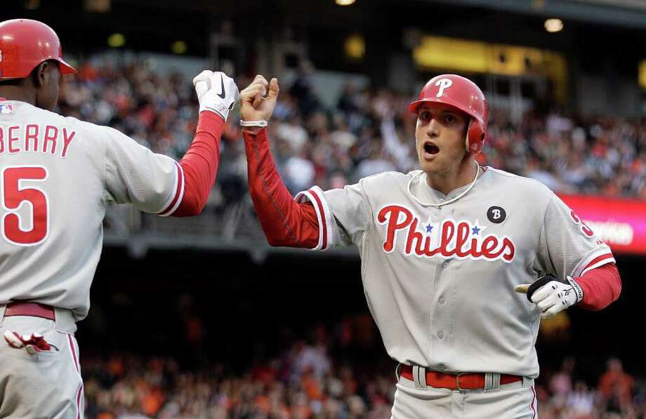 The Phillies haven't lost since trading for Hunter Pence a week ago. He won that many games (seven) over his final month with the Astros. Photo: Ben Margot/Associated Press