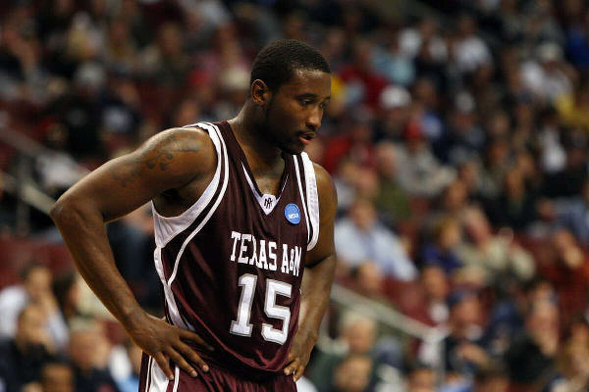 West Regional: Connecticut 92, Texas A&M 66 Donald Sloan reacts after losing to UConn.