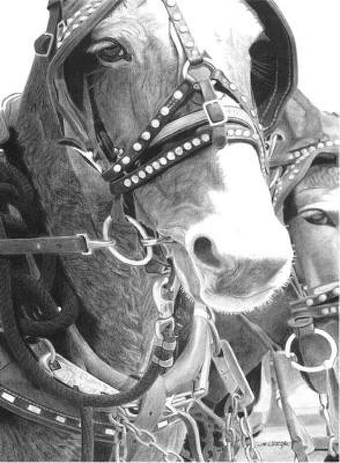 "Garrett Whittington, Lamar CISDRESERVE CLASS CHAMPION MONOCHROMATIC DRAWING ""The Bridle Portrait"""