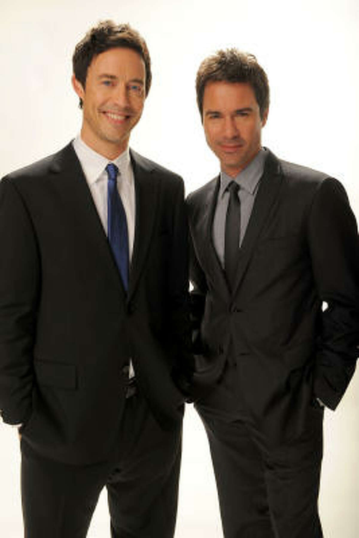 Eric McCormack and Tom Cavanagh star in TNT's Trust Me as creative partners at an advertising agency who are constantly hammering out their relationship.