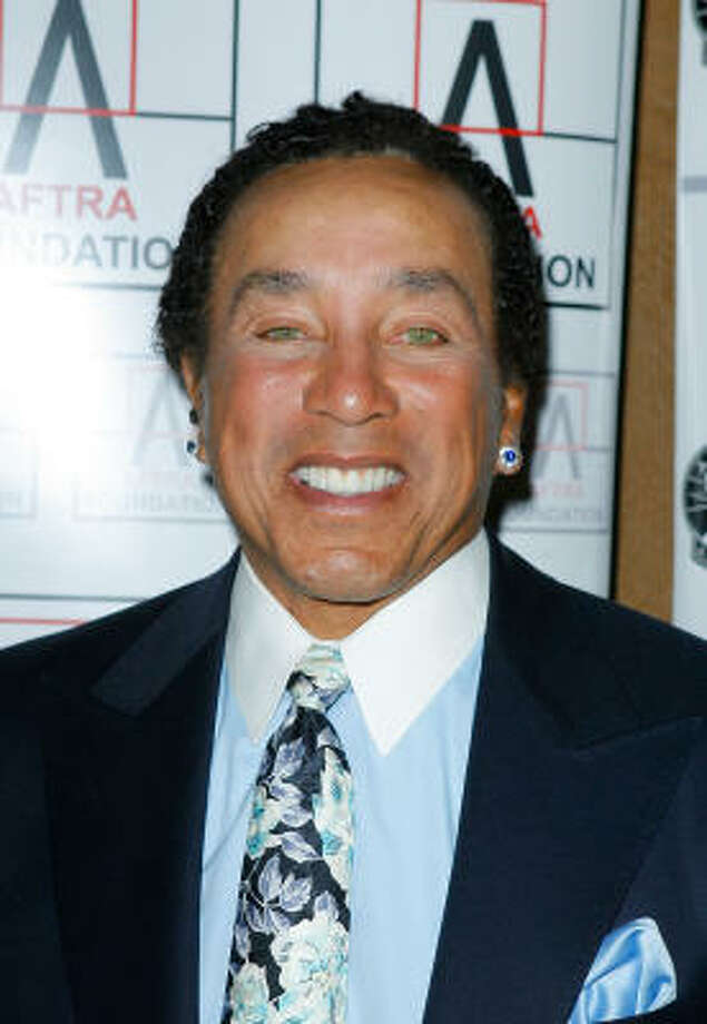 Singer Smokey Robinson was one of the earliest African-American sex symbols when his Motown-sound band, The Miracles, rose to stardom in the 1960s. Photo: Vince Bucci, Getty Images