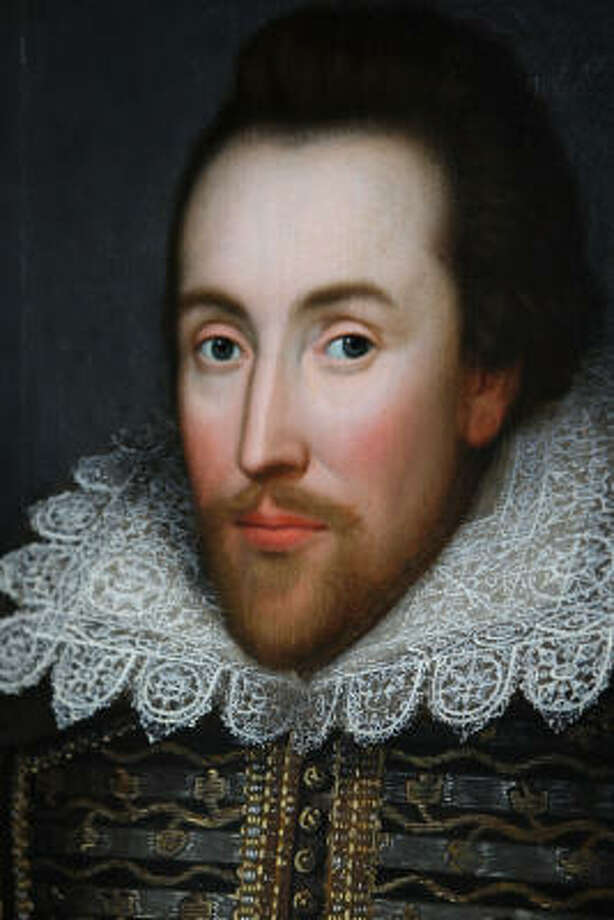 Shakespeare:This is Shakespeare at his best, in the Cobbe portrait. Some say this is the bard's most authentic likeness. Photo: Oli Scarff, Getty Images
