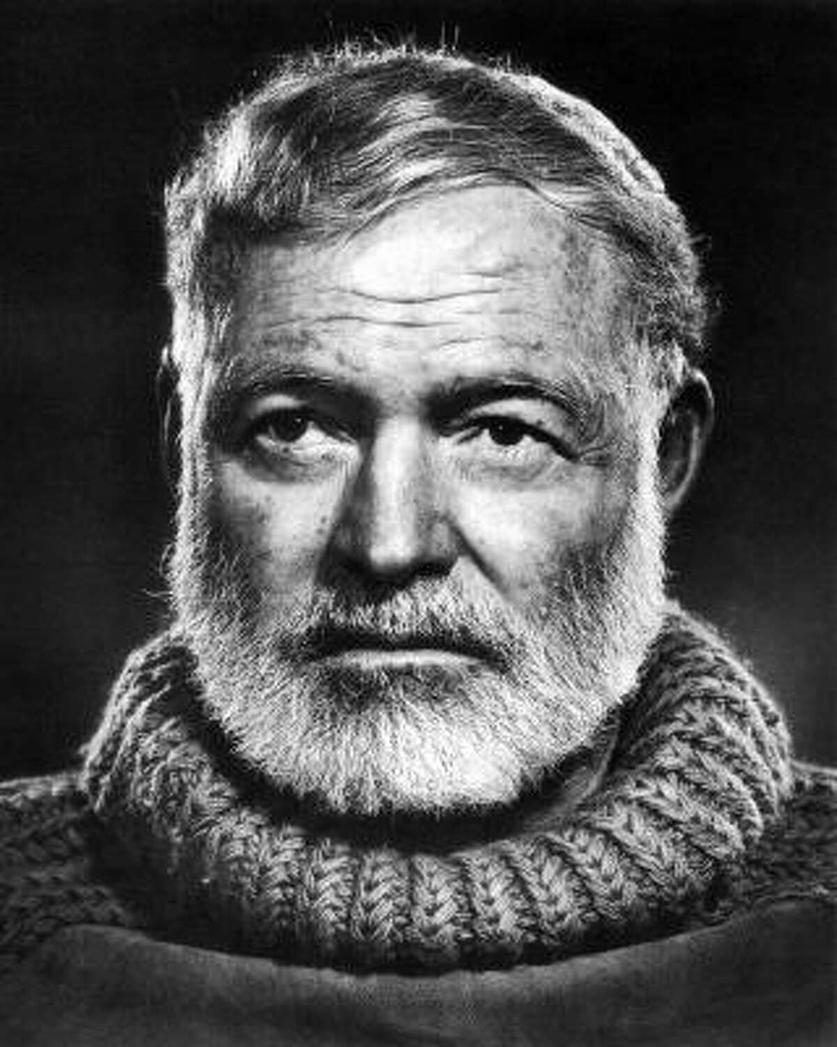 Ernest Hemingway: Can't you just smell the manly sweat in that sweater?