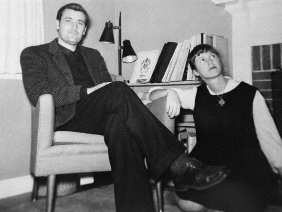 Ted Hughes and Sylvia Plath. Photo: MARCIA BROWN STERN, AP