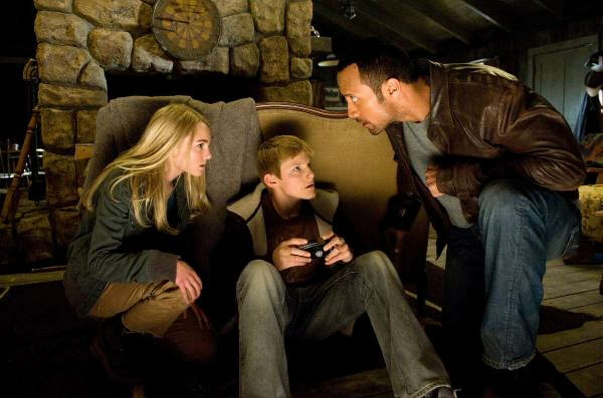 Race to Witch Mountain , Disney's remake of the classic 1975 film, starring AnnaSophia Robb, Alexander Ludwig and Dwayne Johnson is playing in theaters now.