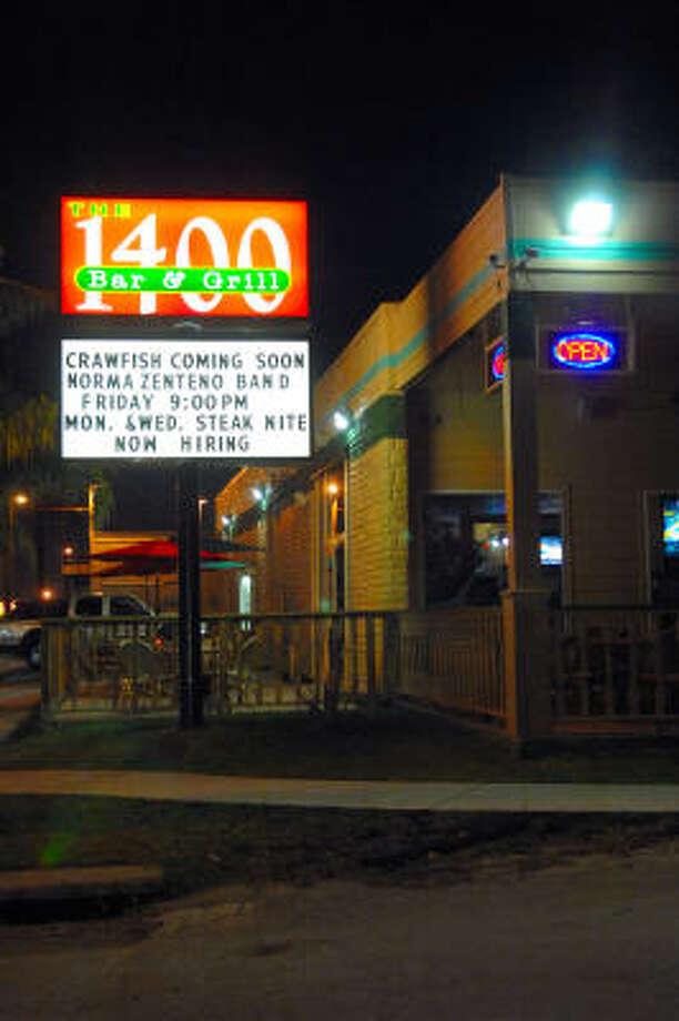 1400 Bar & Grill está ubicado en 1400 Shepherd Dr., en la zona de Heights. Photo: Tre' Ridings, Para La Voz