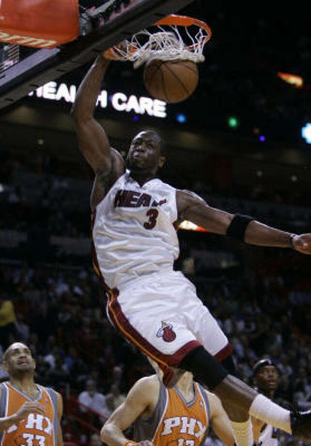 No. 1: Dwyane Wade, Miami Heat guardPPG: 29.7Shooting percentage: 49.5 Photo: Wilfredo Lee, AP