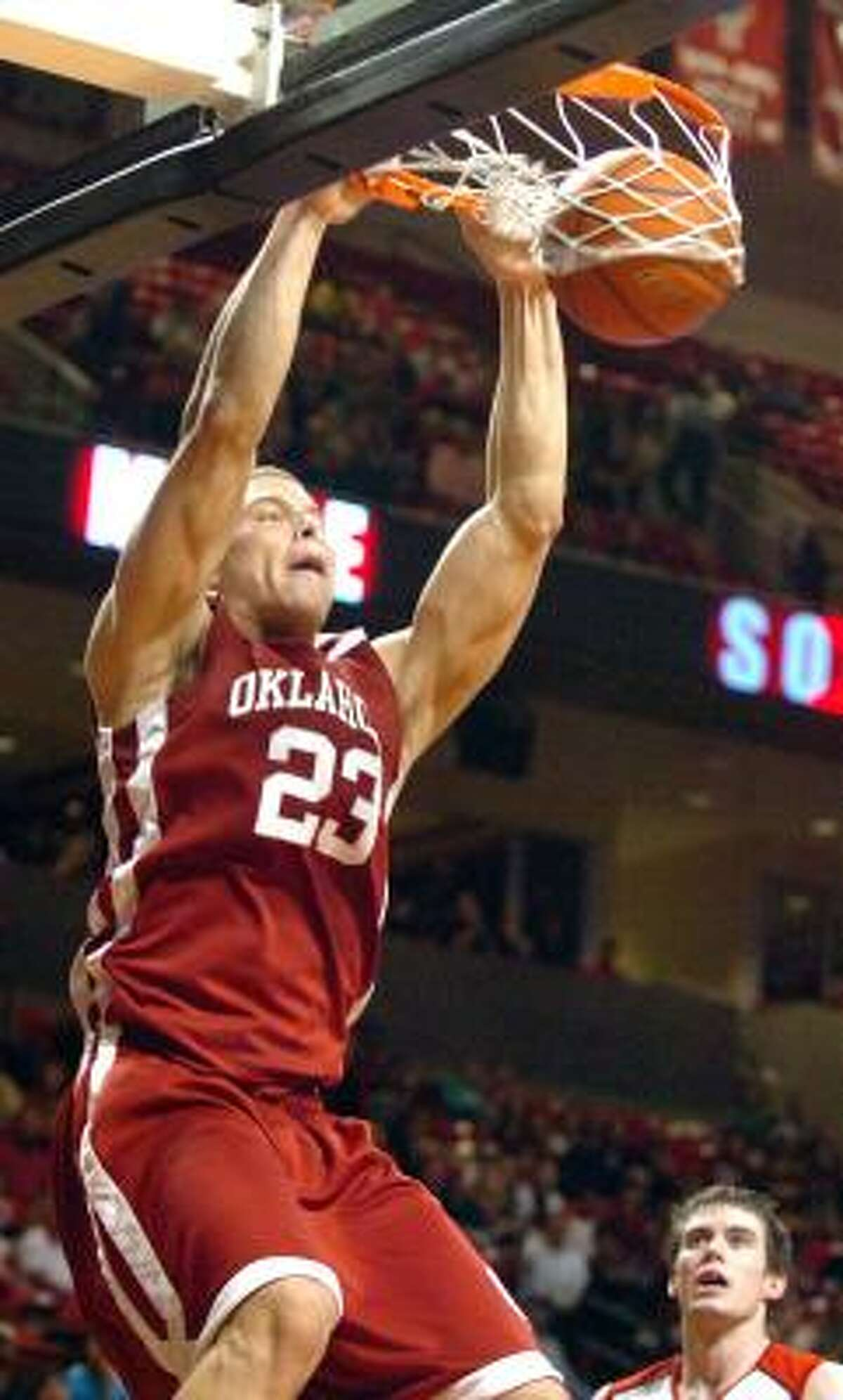 Oklahoma (27-4): The Sooners lost three of their last five games to likely cost themselves a shot at a No. 1 seed in the NCAA Tournament. Forward Blake Griffin (photo), the Big 12's player of the year, missed two of the losses while recovering from a concussion. Griffin led the Big 12 in scoring (22.1) and rebounding (14.2). Guard Willie Warren was named freshman of the year after averaging 14.7 points and hitting 56 3-pointers.