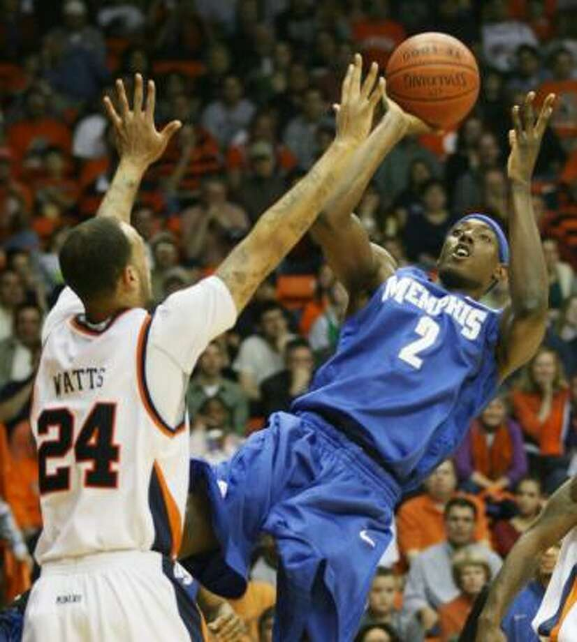 Memphis (28-3): The fourth-ranked Tigers are the hottest team in the nation with a 22-game winning streak and have won the last three C-USA tournaments. Guard Tyreke Evans leads the team in scoring with 16.9 points and forward Robert Dozier (photo) is averaging 12.9 points and 6.9 rebounds. The Tigers could be in line for a No. 1 seed in the NCAA Tournament. Photo: Victor Calzada, AP