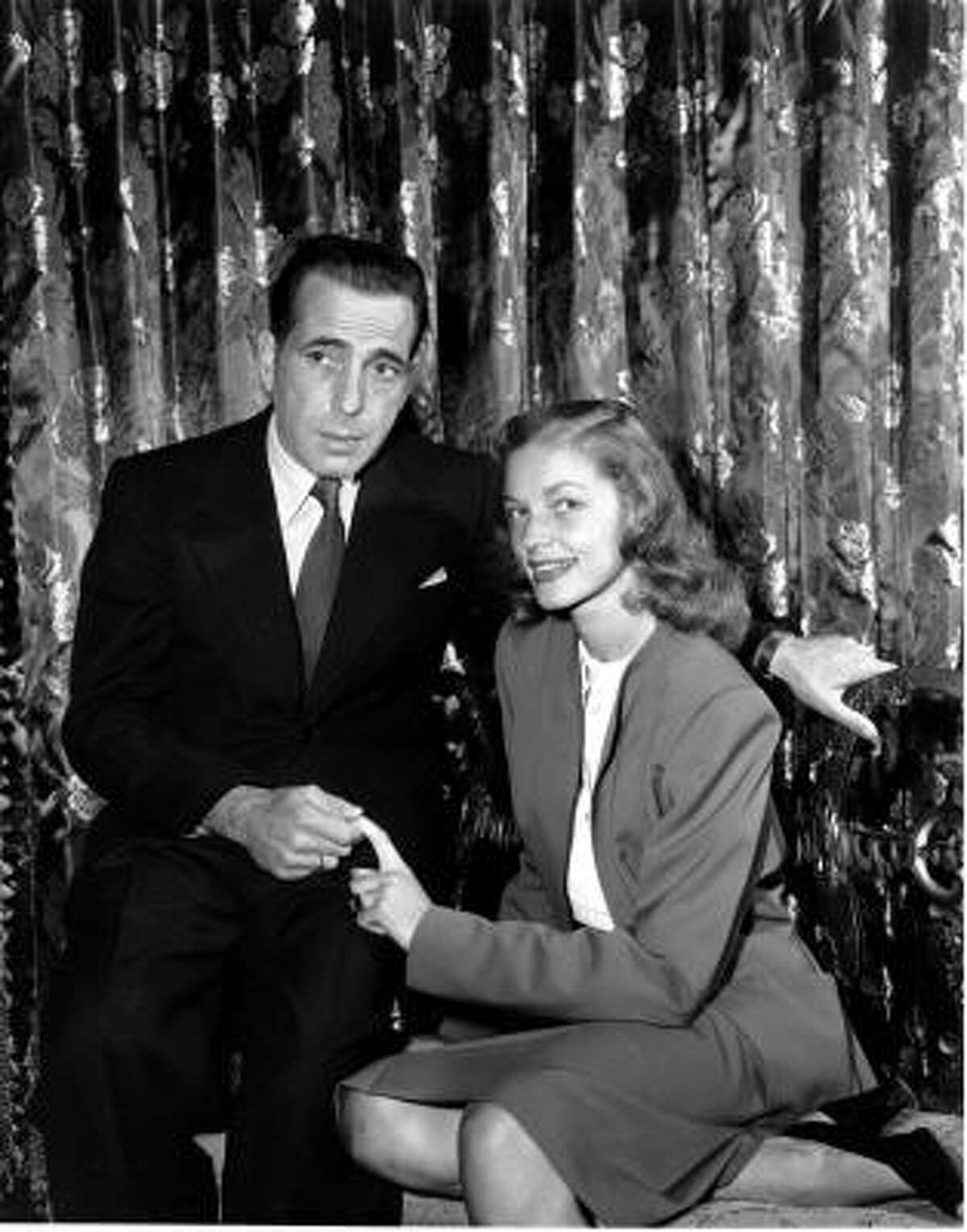 Humphrey Bogart and Lauren Bacall in 1945.
